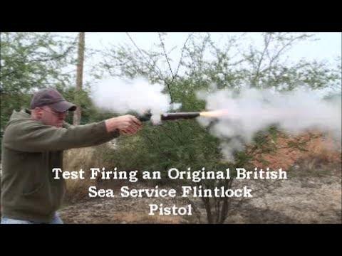 Shooting An Original British Sea Service Flintlock Pistol