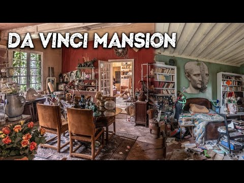 The INCREDIBLE abandoned French Artist's MANSION | Over 1000 of his paintings were left!