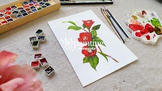 동백꽃 필 무렵을 보다 수채화로 그린 동백꽃 그리고 watercolor_가빛gabit