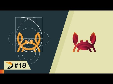 How to create crab logo using grid of golden ratio | Illustrator Tutorial
