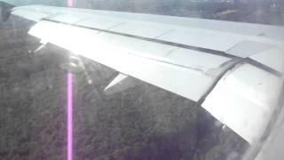 Hard landing Air Caïro Airbus A-320, flight Hurghada to Düsseldorf airport.
