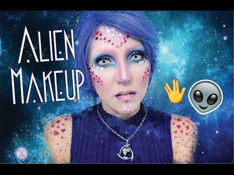 Maquiagem Artística Alien  Halloween Makeup  Camila Nogueira