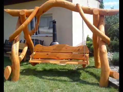Hollywoodschaukeln Hollywoodschaukeln aus Holz Garten Holz Mbel  YouTube