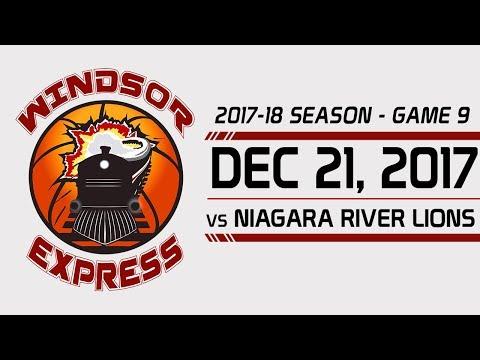Windsor Express HIGHLIGHTS vs Niagara - 12/21/17