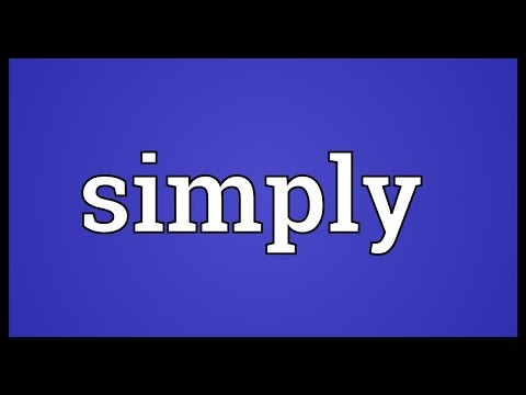 Simply Meaning