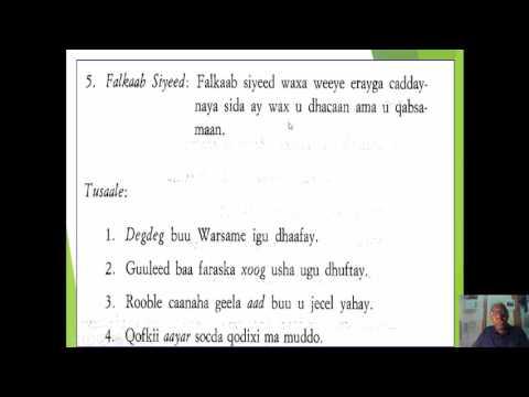 Quruxda Af Soomaaliga(The beauty of Somali Language) Naxwaha Af-Soomaaliga/Falkaab(Adverb)
