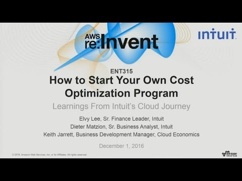 AWS re:Invent 2016: Start Your Cost Optimization: Learning from Intuit's Cloud Journey (ENT315)