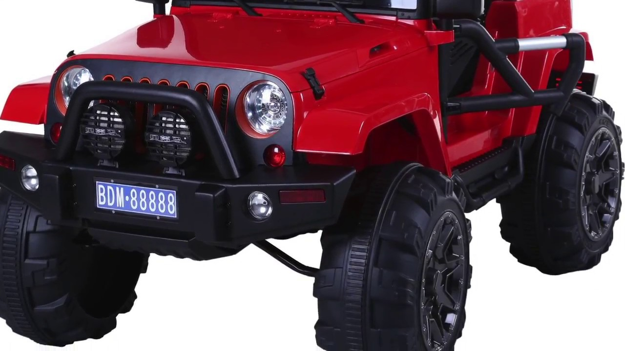 kids cool 12v monster truck electric jeep