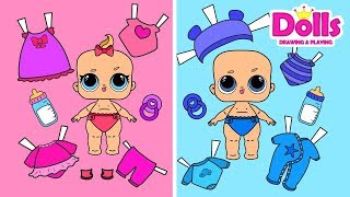 👶🍼NEW BABY LOL PAPER DOLLS CLOTHES DOLLHOUSE & BABY STOLLER PAPERCRAFT HOW TO MAKE GAMES FOR KIDS