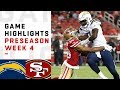 Chargers vs. 49ers Highlights | NFL 2018 Preseason Week 4