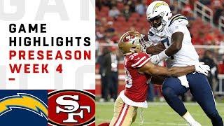 Chargers vs. 49ers Highlights | NFL 2018 Preseason Week 4