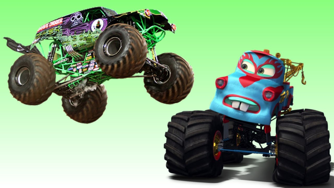Disney Pixar Cars Monster Truck Madness Vs Monster Jam Entire