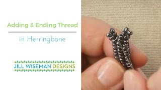 Beadweaving Basics: Adding and Ending Thread in Herringbone