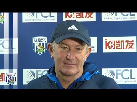 Albion Head Coach Tony Pulis addresses the media ahead of Chelsea clash
