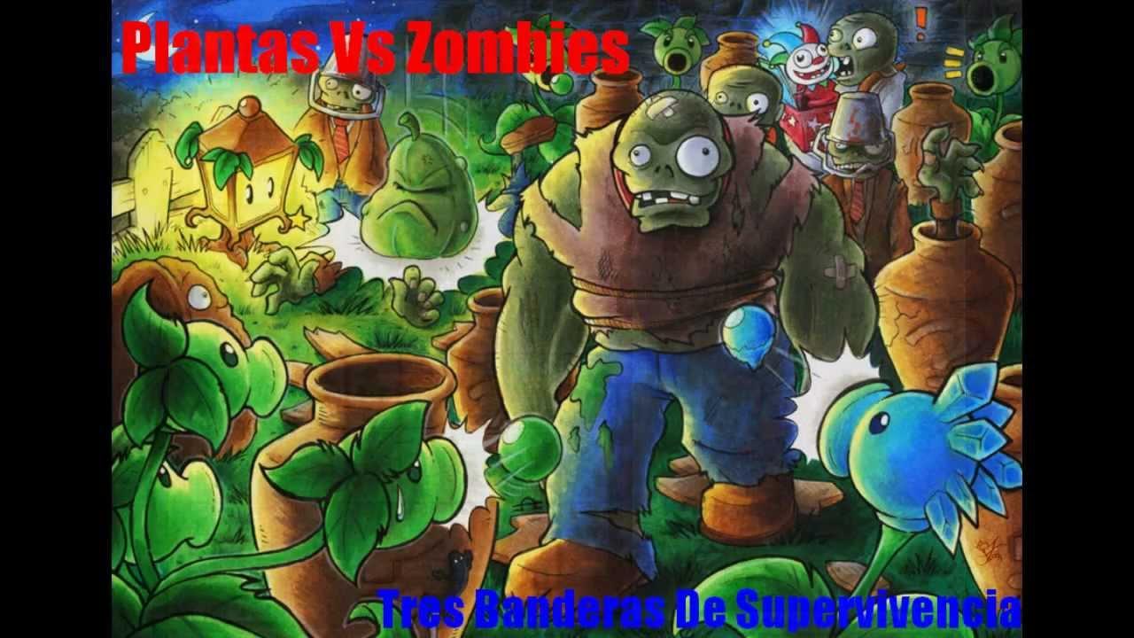 Plantas vs zombies 3 banderas de supervivencia youtube for Fotos de la casa de plantas vs zombies