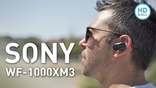 Recensione SONY WF-1000XM3 cuffie wireless + confronto AirPods e Buds