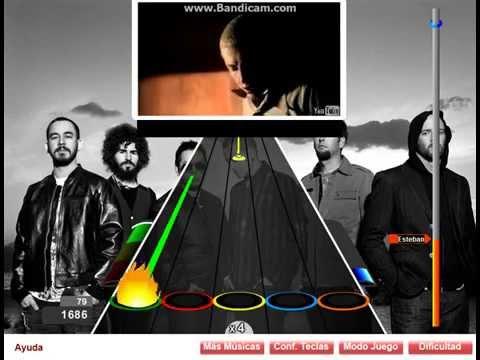 In The End por Linkin Park guitar flash record facil 5824