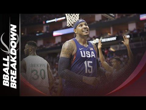Carmelo Anthony: FIBA vs The Knicks