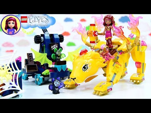 Lego Elves Azari & the Fire Lion Capture Build Review Silly Play