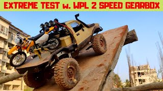 EXTREME TEST | WPL 2 SPEED GEARBOX | WPL C14 | RC TOYOTA HILUX 4x4 | RC WITH POPEYE