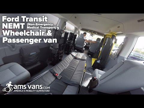 Ford Transit NEMT with Side Wheelchair Lift | AMS Vans - YouTube