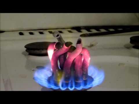 Calcium Gluconate set on fire