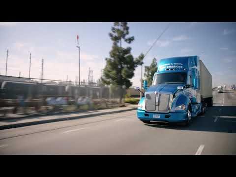 Hydrogen Fuel Cell Electric Kenworth/Toyota Zero Emission Semi-Truck