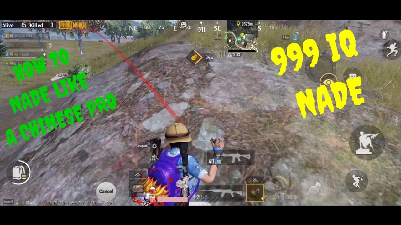 HOW TO NADE LIKE A CHINESE PRO | 999 IQ NADE | FIVE FINGER GAMEPLAY | PUBG MOBILE