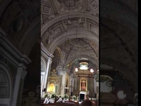 The 3D painted ceiling of San Agustin Church, Manila