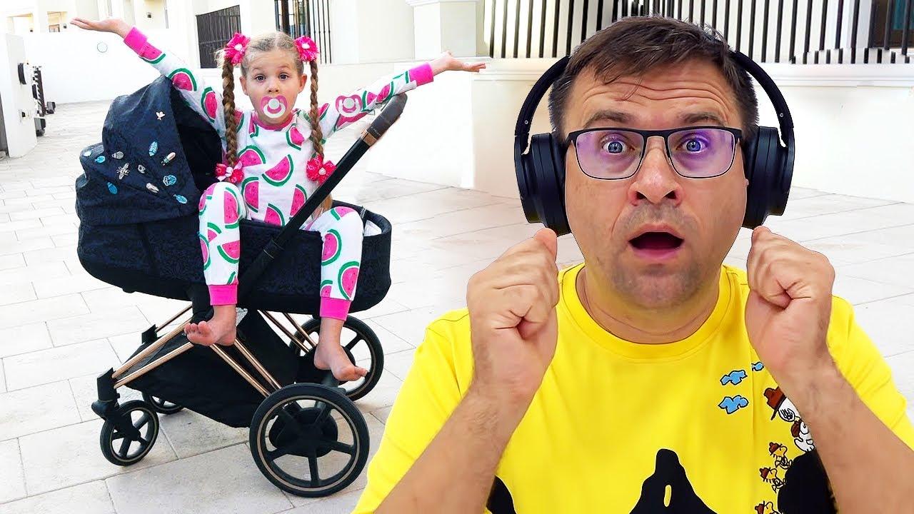 Diana Finge Ser o Bebê Oliver. Vídeos divertidos para as crianças