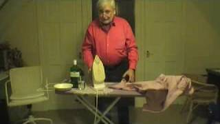 How to iron a shirt.  STRICTLY MEN ONLY
