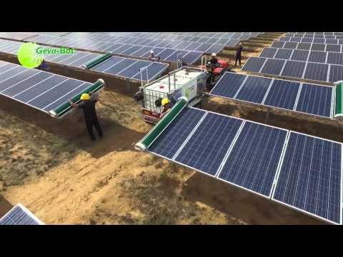 The GEVA-BOT | Revolutionary Solar Panel Cleaning Robot