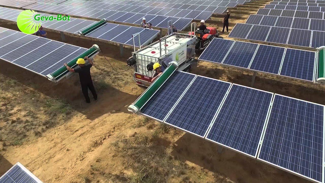 The Geva Bot Revolutionary Solar Panel Cleaning Robot