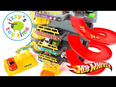 Hot Wheels and Fast Lane Skyline Parking Garage Playset | Cars for Kids