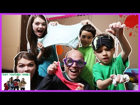 Family Box Fort Slime Suite  DIY Slime With Disadvantages📦😲  That YouTub3 Family