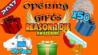 R2DA OPENING ALL GIFTS (2017) ROBLOX