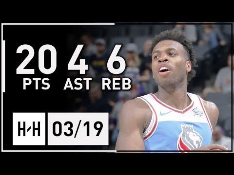 Buddy Hield Full Highlights Pistons vs Kings (2018.03.19) - 20 Pts!