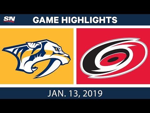 NHL Highlights | Predators vs. Hurricanes - Jan. 13, 2019