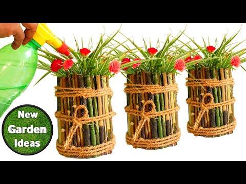 How To Make Creative Tree Stump Pot/pot Making Ideas/gardening Tips/New Method