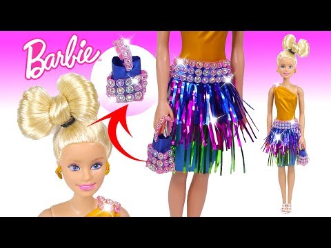 DIY Barbie Outfit with Balloons and Hairstyle Clothes for Barbie Doll Creative and Fun for Kids