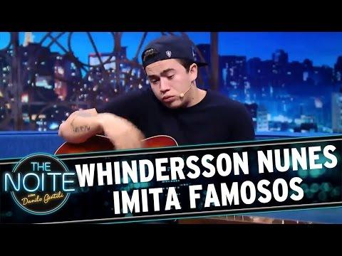 The Noite (25/03/16) - Whindersson Nunes Imita Famosos