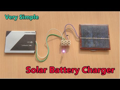 Simple mobile battery charging using 6v Solar panel