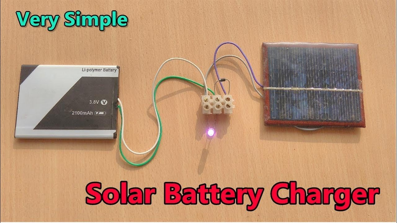 simple mobile battery charging using 6v solar panel youtube leds and rechargeable solar on wiring solar panel to charge controller [ 1280 x 720 Pixel ]