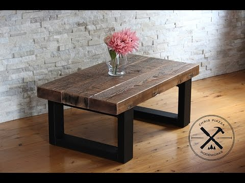Reclaimed Wood Coffee Table With Steel Legs