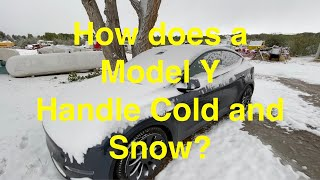 How does the Model Y handle Cold and Snow?