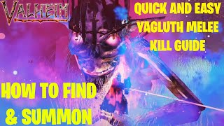 Valheim - How T๐ Easily Find & Defeat Yagluth (Final Boss) USING MELEE ATTACKS