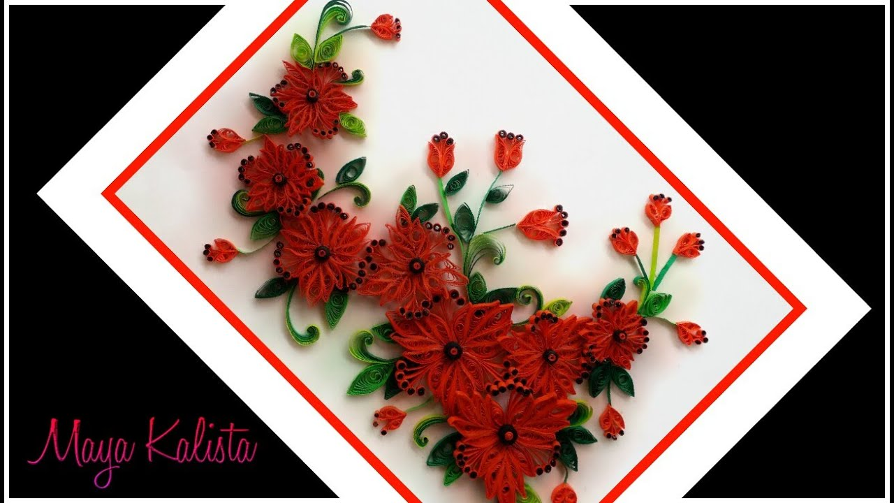 Paper Quilling flowers designs - quilling wall frame ...