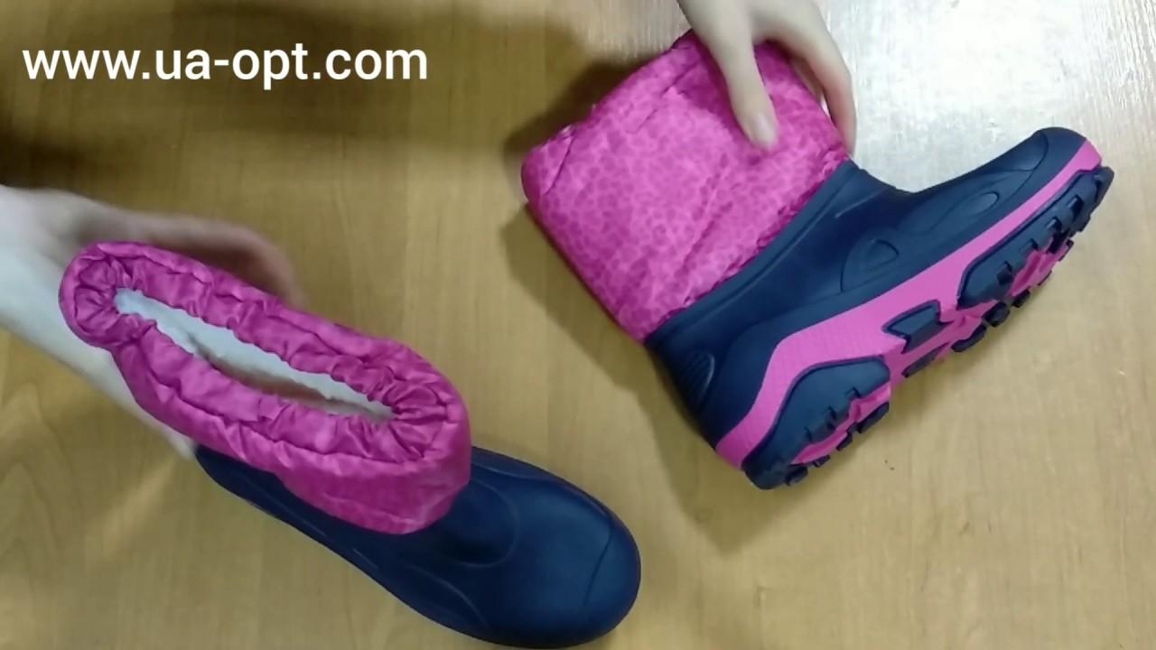 thumbnail video Детские резиновые сапоги сток 4 €/пара лот #52