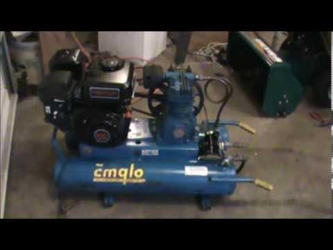 emglo gas compressor adding harbor freight predator 212cc engine ...