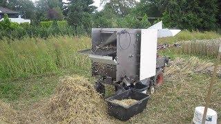 Einachser Eigenbau Dreschmaschine Weizen dreschen 2017 / DIY thresher at walking tractor